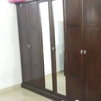 Large wood wardrobe for sale very good condition