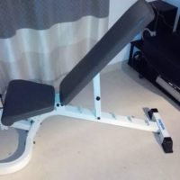 Weider inclined weight bench + equipments
