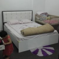 Queen Size Bed with headboard and side tables for Sale