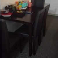 Wooden Dining Table with 4 Chairs for Sale